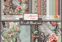 Alexx's kits - Digiscrap'Isa's layouts / My pages created with Alexx's kits / by Isabelle Pinet