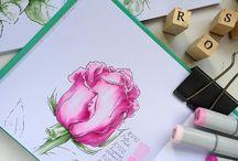 Рисование маркерами
