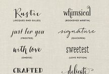 Fonts I love, need and adore