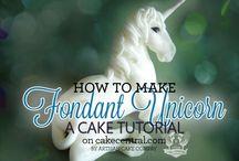 Unicorn cake tutorial / by Joan Mclain