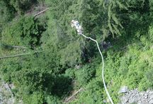 Bungy Jumping / 94 m Bungy Sprung von der Benni-Raich-Brücke