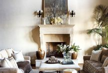 the fireplace / CLOTH & KIND | Storied interior design and curated content from a textile addict and an art aficionado | Krista Nye Schwartz & Tami Ramsay | @tamiramsay / by Krista Nye Schwartz
