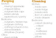 Organization/Lists - Cleaning