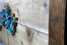 home made recycled pine / mobile / crafts / realizzato con assi di recupero recycling wood on sale