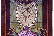 ✿~♥•Stained Glass•♥~✿  / Whether in a medieval cathedral, a modern church or even a local craft show, stained-glass designs catch the eye. The art of coloring, cutting and arranging glass panes into artistic forms has been around for thousands of years, and continues to be a popular art form today.