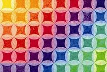 Rainbow Quilts / All Quilts I am attracted to in Rainbow Colours