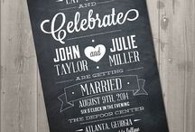Chalkboard Wedding Invitations & Signs