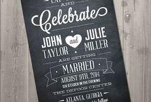 Chalkboard Wedding Invitations & Signs