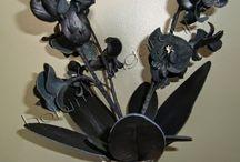 Deri Orkide Yapımı--leather-made orchid