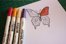 Distress Ink Coloring Book
