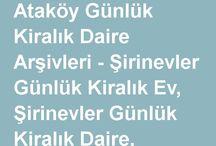Ataköy Günlük Kiralık Daire / İstanbul Ataköy'de Günlük Kiralık Daire hizmeti veren profesyonel emlak firması