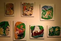 My 3-D / Ceramic reliefs and cast work.