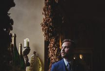 Dark and Stormy / Darker lighting looks for grooms and atmospheric winter weddings.