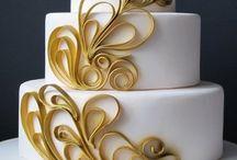 Cake decorating: Quilling
