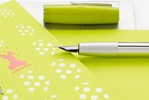 St. Patrick's Day Colors / Fountain Pens, Rollerballs, Ballpoint pens and Mechanical Pencils in festive St. Patrick's Day colors.