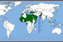 Карты исламской антитеррористической коалиции. / Участники исламской антитеррористической коалиции  отмечены на карте мира зелеными кружками и на контурной карте мира зеленым цветом.  34 страны. Подробности - http://phdrdak.blogspot.ru/2015/12/karta-stran-uchastniki-islamskoj-antiterroristicheskoj-koalicii.html © PhDrDAK, 2015