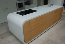 KITCHEN COUNTERTOPS / Kitchen countertops ideas with quartz, corian and neolith http://www.stonetechgroup.gr/en
