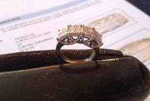Gently Used Engagement Rings At Their Finest / A selection of beautiful gently used engagement rings of all shapes and sizes.
