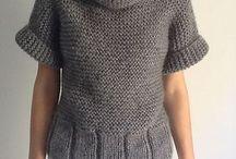 maglione grigio collo a ciambella
