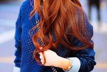 Moodboard #bleu #orange
