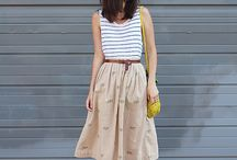 Midi skirt mix
