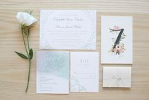 Perfectly Pretty Wedding Invitations / Wedding stationary ideas for your wedding day. wedding invitations, menus, RSVP cards, table number, seating charts, and more.