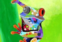 kikkers schilderijen