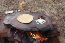 cocina a leña en piedra