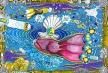 Wesen und Gesellschaft / Surreal, Jugendstil, Art Nouveau, Symbolismus, Politik, Psyche, Traum, Charakter, Gesellschaft, heutige Zeit, Religion, Natur, Reisen, Welt, Kritik, Zwischenmenschlich, Demokratie, Humanismus, Ethik, Menschen