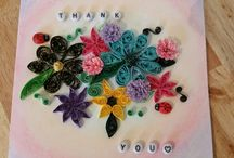 thank you card quilling