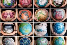 belly painting ideas