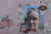 """Kit de scrap """"Ma Chérie"""" / Kit de scrapooking avec les papiers KaiserCraft de la collection Ma Chérie"""