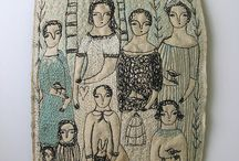 Textile artwork love / Textile art in all its tactile textured glory