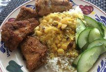 dalh gebakken vis basmatie rijst
