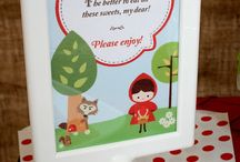 Little Red Riding Hood Party Inspiration / DIY craft inspiration for Little Red Riding Hood party theme