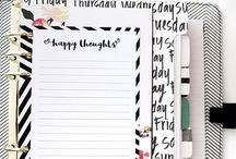 My planner bit and bobs