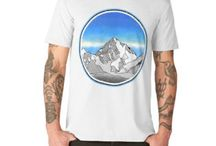 Mountains of the world art / An new collection of art designs, inspired by mountains of the world and the seven summits.