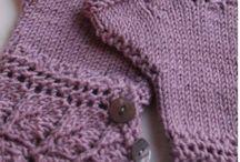 tricot mitaines, gants