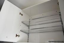 Organização do armário cozinha