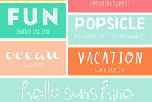 Fonts / Font type