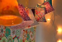 DIY - Projeto de iluminação simples / Retalhos, copos plásticos, cola, papel, tesou e luzinhas de Natal para dar um charme na casa.