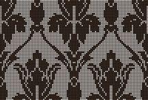 Wyszywanie / tkanie - proste wzory