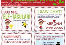 Elf on the shelf ideas / Christmas