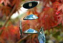 ceramics wind chime