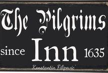 A ~ Pîlgram's Inn / În Colonîal Amerîca, A 17th Century Tavern Înn Îs Where The Purîtans Who Are Fresh Off The Boat Were Taken To Rest, Sleep, Eat & Have Their Horses Taken Care Of.