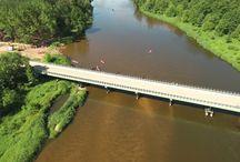 Rzeka Pilica - zdjęcia z drona
