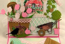 Spring and flower cards / Lots of inspiration for handmade spring and flower cards using Marianne Design products