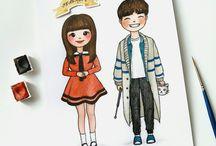 Рисунки Кореи