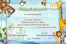 D semipersonalizate gradi / Diplome semipersonalizate prescolari