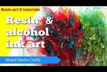 3D resin alcohol art